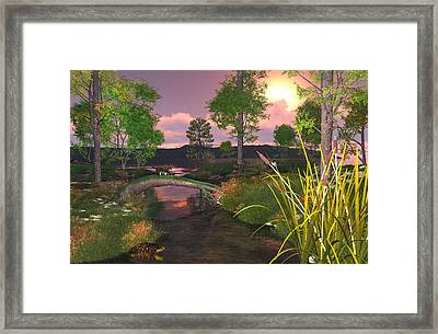 Twilight Hunter Framed Print by Mary Almond