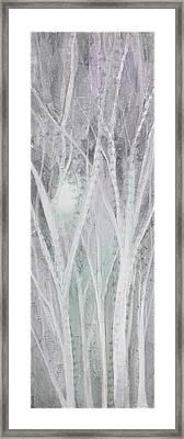 Twilight In Gray I Framed Print by Shadia Zayed