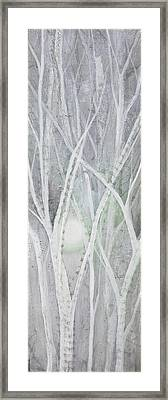 Twilight In Gray II Framed Print by Shadia Zayed