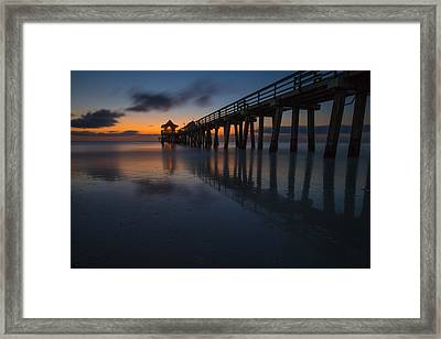 Twilight In Naples Framed Print by Emilio Portuondo