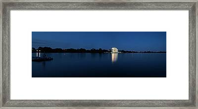 Twilight Jefferson Memorial Panorama Framed Print by Andrew Soundarajan