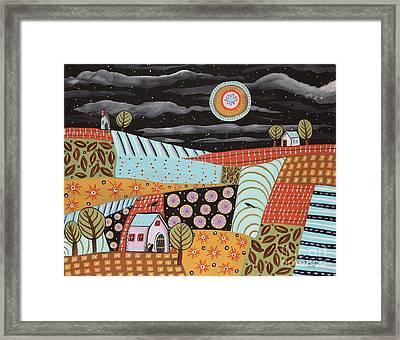 Twilight Moon Framed Print by Karla Gerard