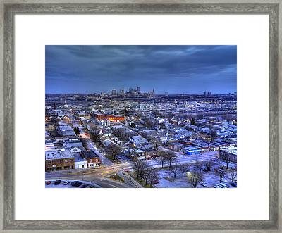 Twilight On Strawberry Hill Framed Print by Don Wolf