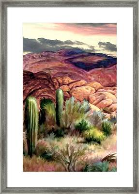 Twilight On The Desert Image 1 Framed Print by Ron Chambers