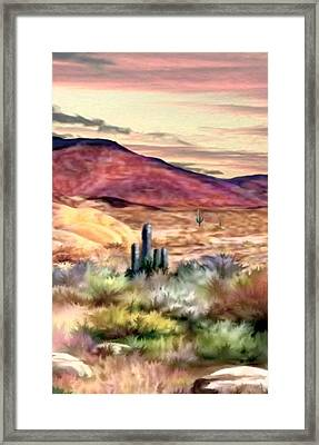 Twilight On The Desert Image 2 Framed Print by Ron Chambers