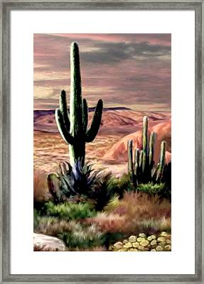 Twilight On The Desert Image 3 Framed Print by Ron Chambers