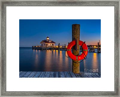 Twilight Over Roanoke Sound Framed Print by Anthony Heflin