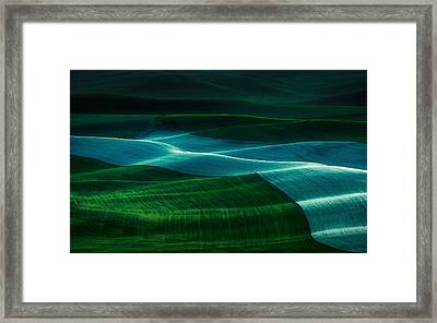 Twilight Palouse Framed Print by Gabriel Tompkins