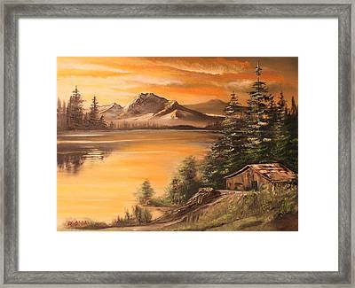 Twilight Framed Print by Remegio Onia