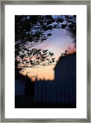 Twilight Silhouette Framed Print by Andrea Kappler