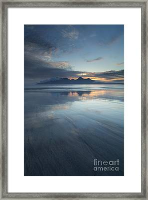 Twilight Sunset Over The Isle Of Rhum Framed Print by John Potter