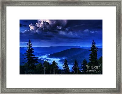 Twilight Thunderhead Framed Print by Thomas R Fletcher