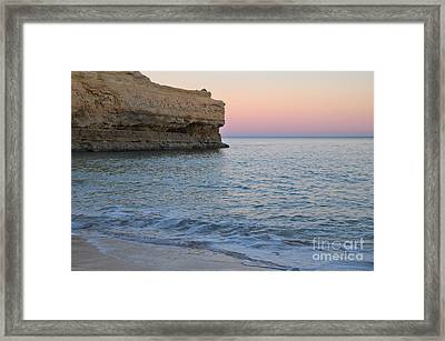 Twilight View In Albandeira Beach Framed Print by Angelo DeVal