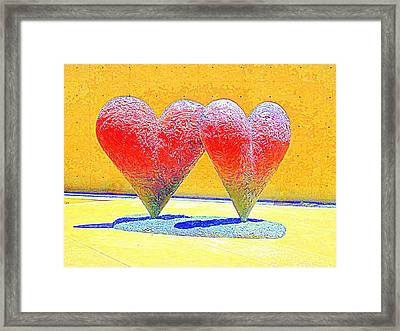 Twin 6' Hearts Framed Print by Randall Weidner