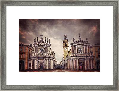 Twin Churches Of Turin  Framed Print by Carol Japp
