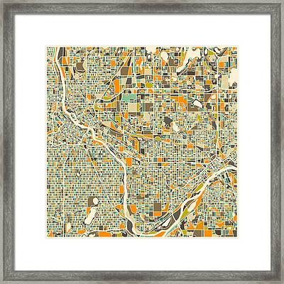 Twin Cities Framed Print by Jazzberry Blue