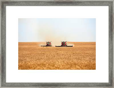 Twin Combines Framed Print by Todd Klassy