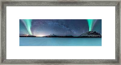 Twin Eruption Framed Print by Tor-Ivar Naess