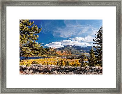 Twin Lakes And Quail Mountain - Independence Pass - In Late September - Rocky Mountains Colorado Framed Print by Silvio Ligutti
