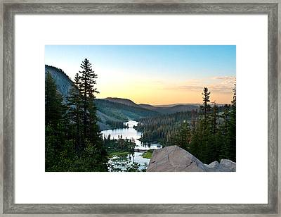 Twin Lakes Framed Print by Chris Brannen