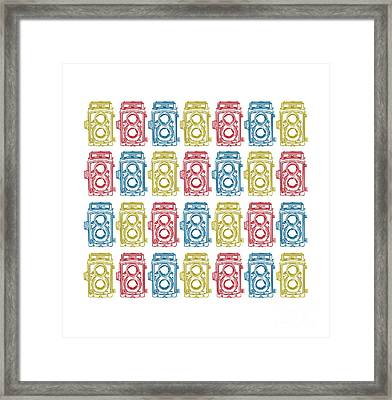 Twin Lens Camera Pattern Framed Print by Setsiri Silapasuwanchai