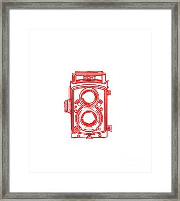 Twin Lens Camera Framed Print by Setsiri Silapasuwanchai