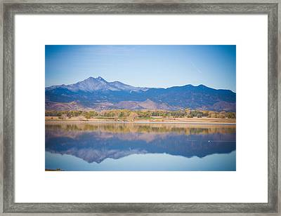 Twin Peaks Reflection Framed Print by James BO  Insogna
