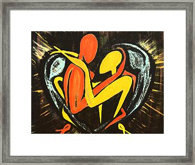Twin Souls Framed Print by MandyCka Johnson