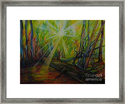 Twinkle Twinkle Autumn Light Framed Print by Anna  Duyunova