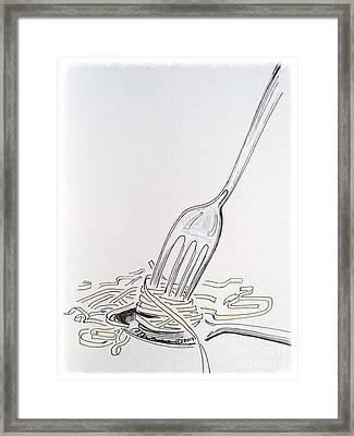 Spaghetti 101 Framed Print by Barbara Chase
