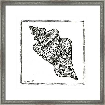 Twirly Shell Framed Print by Stephanie Troxell