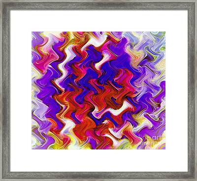 Twisted Color Framed Print by Krissy Katsimbras