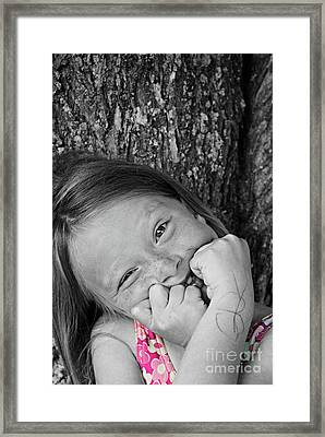 Twisted Expression Framed Print by Aimelle