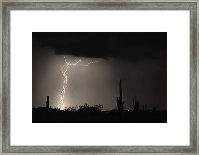 Twisted Storm - Sepia Print Framed Print by James BO  Insogna