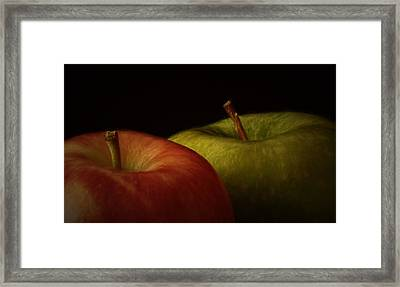 Two Apples Framed Print by Richard Rizzo