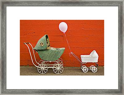 Two Baby Buggies  Framed Print by Garry Gay