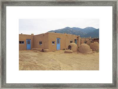 Two Blue Doors Framed Print by Jerry McElroy