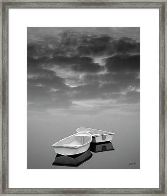 Two Boats And Clouds Framed Print by Dave Gordon