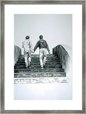 Two Boys Framed Print by Rene Capone