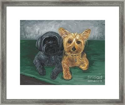 Two Buddies Framed Print by Margaryta Yermolayeva