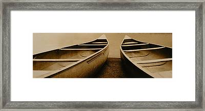 Two Canoes Framed Print by Jack Paolini