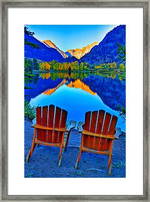 Two Chairs In Paradise Framed Print by Scott Mahon