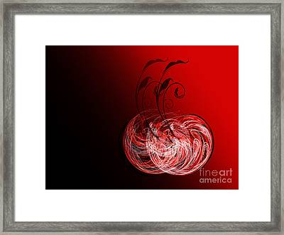 Two Cheery Cherries Framed Print by Andee Design