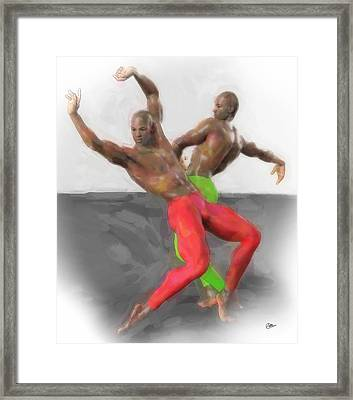 Two Classic Dancers Framed Print by Quim Abella