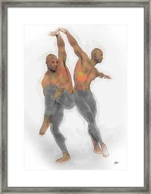 Two Dancers Framed Print by Quim Abella