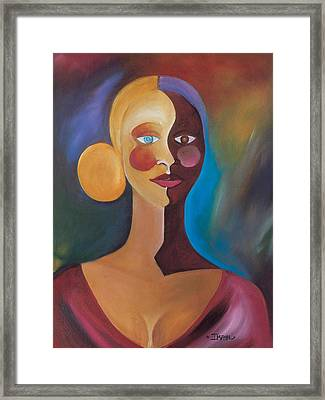 Two Faces Of Eve Framed Print by Ikahl Beckford