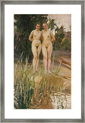 Two Friends  Framed Print by Anders Leonard Zorn