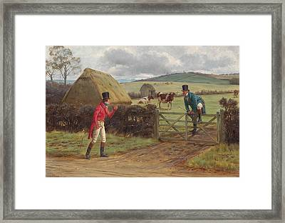 Two Gentlemen Met Framed Print by George Goodwin