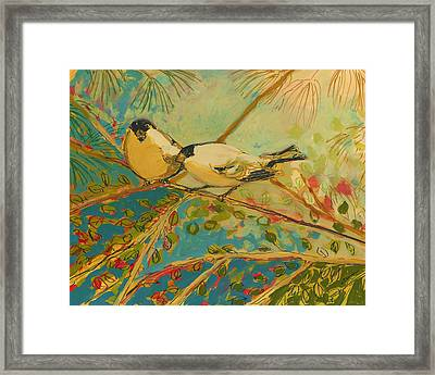 Two Goldfinch Found Framed Print by Jennifer Lommers