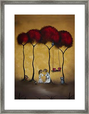 Two Hearts Framed Print by Charlene Zatloukal